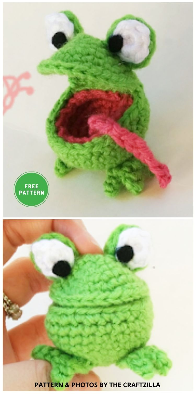Spring Frog - 11 Free Crochet Amigurumi Frog Patterns