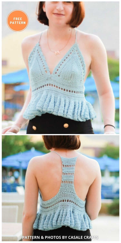 The Jasmine Bralette - 11 Free & Easy Crochet Bralette Patterns For Summer
