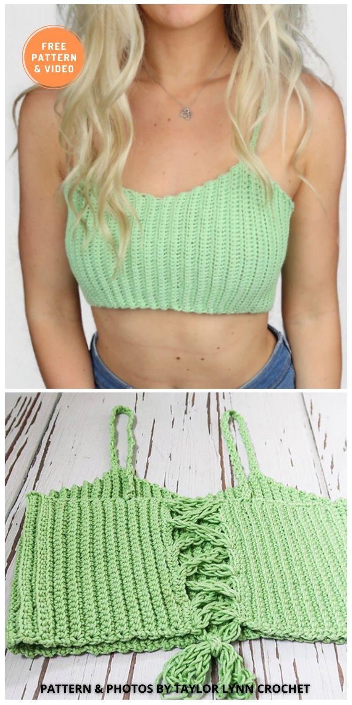 The Sasha Bralette - 11 Free & Easy Crochet Bralette Patterns For Summer