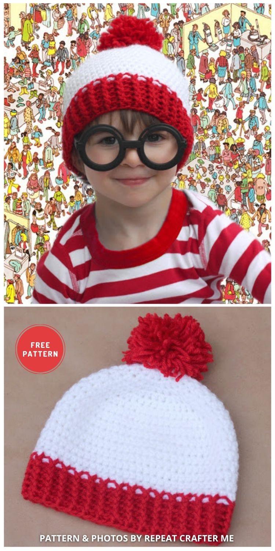 Waldo Crochet Hat - 6 Free & Quick Crochet Where's Wally Hat Patterns