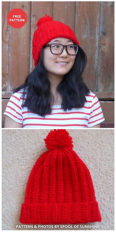 Where's Waldo Costume - 6 Free & Quick Crochet Where's Wally Hat Patterns