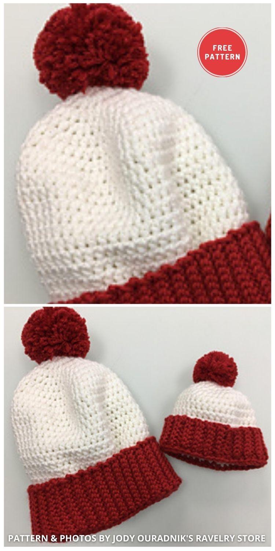 Where's Waldo's Family - 6 Free & Quick Crochet Where's Wally Hat Patterns