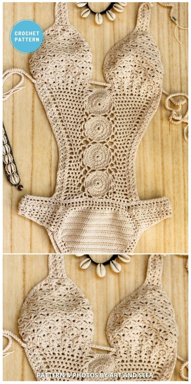 White Crochet Swimsuit - 7 Best Crochet Swimsuit Patterns To Make This Summer