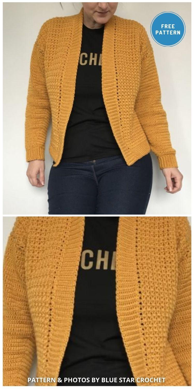 Working Girl Cardigan - 10 Free Modern Crochet Cardigans Patterns For Women