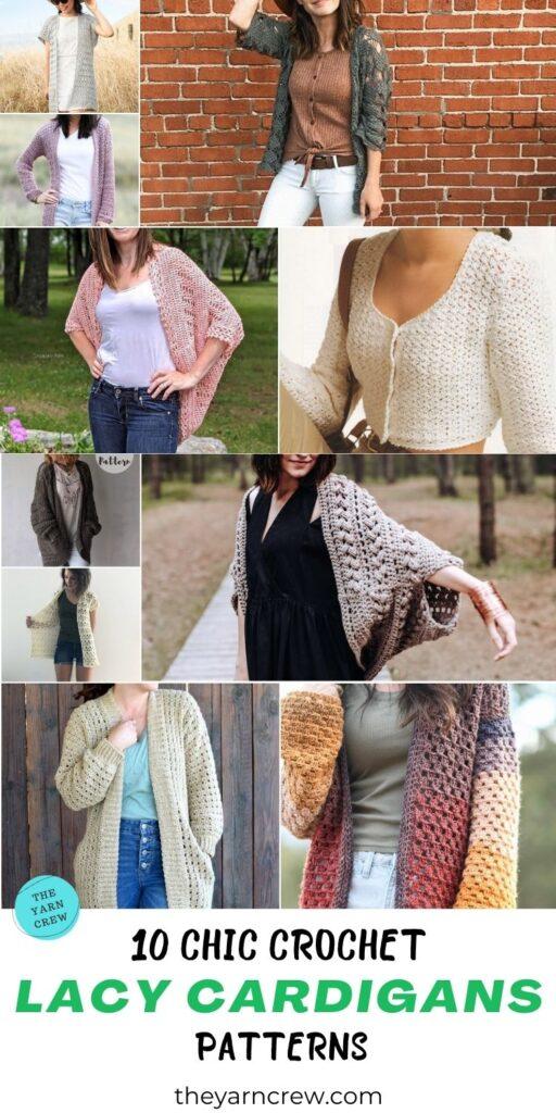 10 Chic Crochet Lacy Cardigan Patterns PIN 3