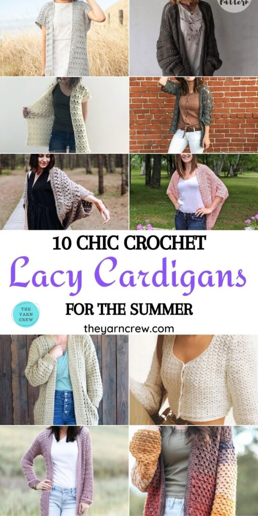 10 Chic Crochet Lacy Cardigans For The Summer PIN 1