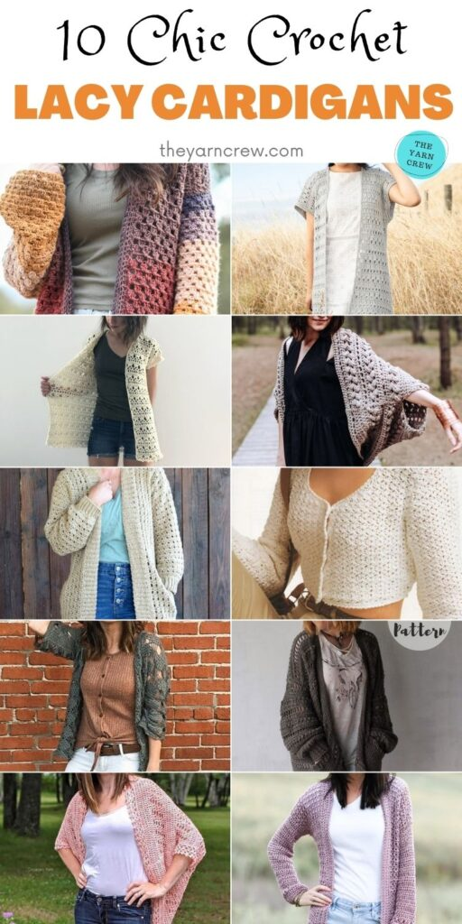10 Chic Crochet Lacy Cardigans PIN 2