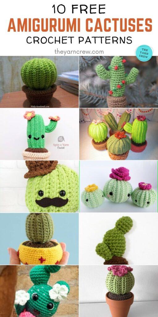 10 Free Amigurumi Cactus Crochet Patterns PIN 2