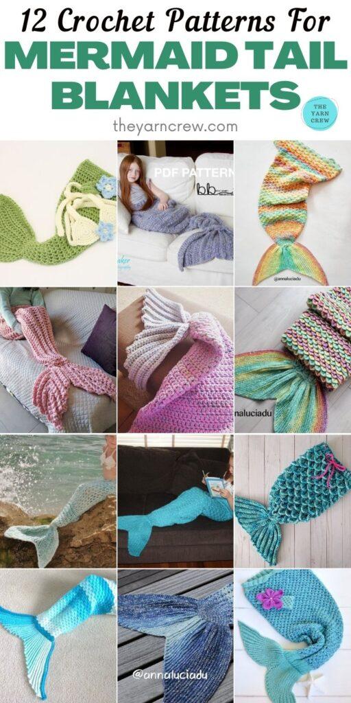 12 Crochet Patterns For Mermaid Tail Blankets PINTEREST 2
