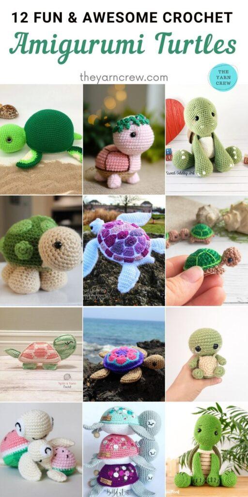 12 Fun & Awesome Crochet Amigurumi Turtles PIN 2
