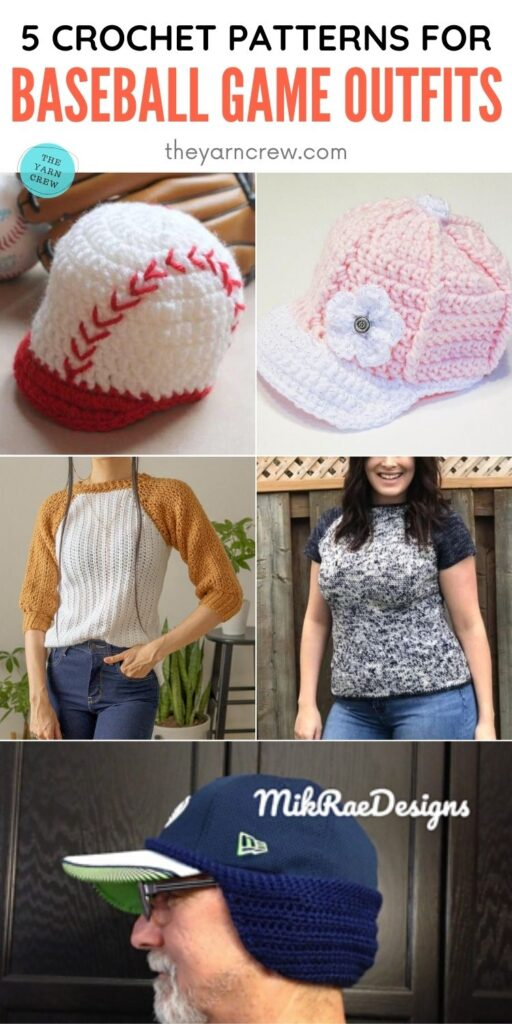 5 Crochet Patterns For Baseball Game Outfits PIN 2