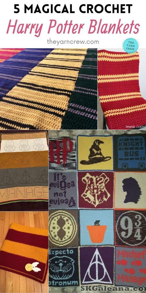 5 Magical Crochet Harry Potter Blankets PIN 2