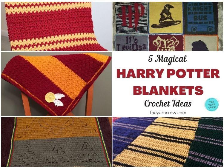 5 Magical Harry Potter Blanket Crochet Ideas FB POSTER