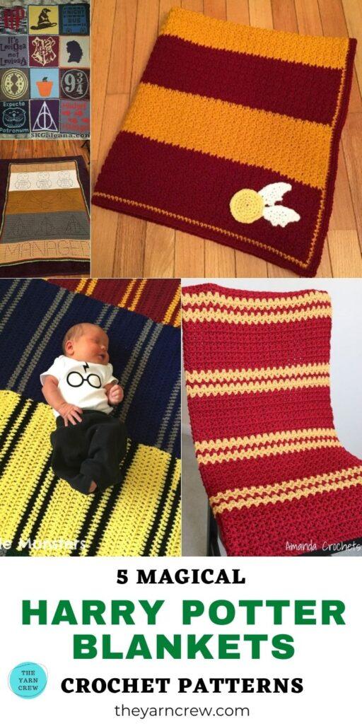 5 Magical Harry Potter Blanket Crochet Patterns PIN 3