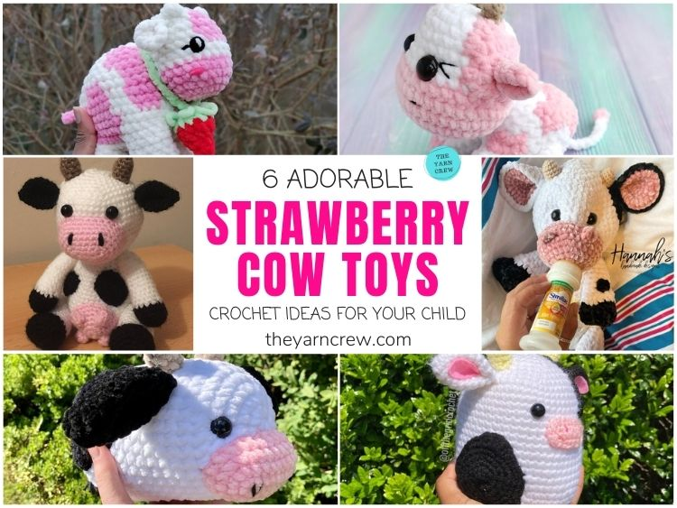 6 Adorable Strawberry Cow Toy Crochet Ideas For Your Child FB POSTER