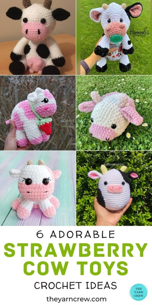 6 Adorable Strawberry Cow Toy Crochet Ideas PIN 3