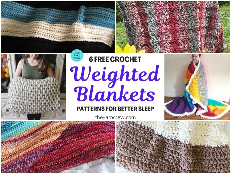 6 Free Crochet Weighted Blanket Patterns For Better Sleep FB POSTER