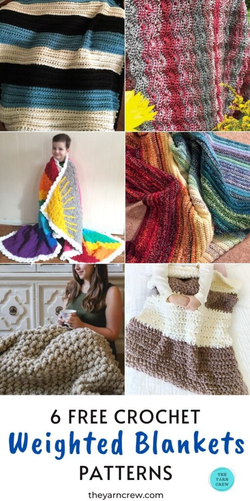 6 Free Crochet Weighted Blanket Patterns PIN 3
