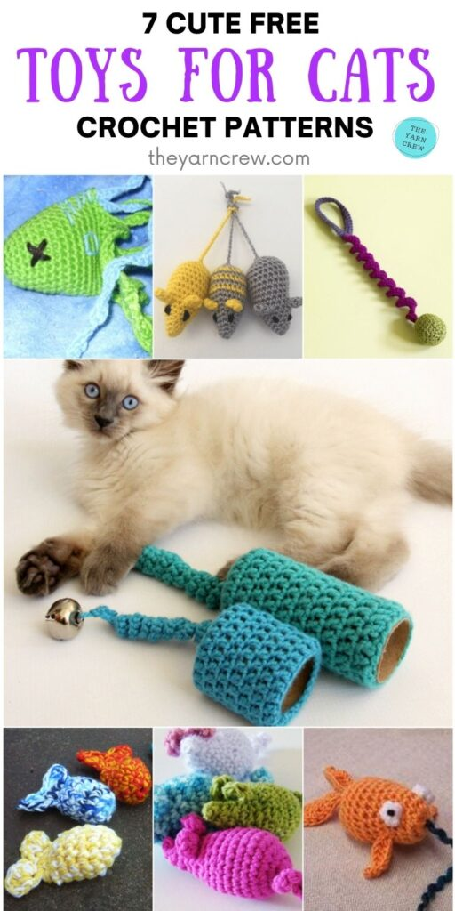 7 Cute Free Toys For Cats Crochet Patterns PIN 2