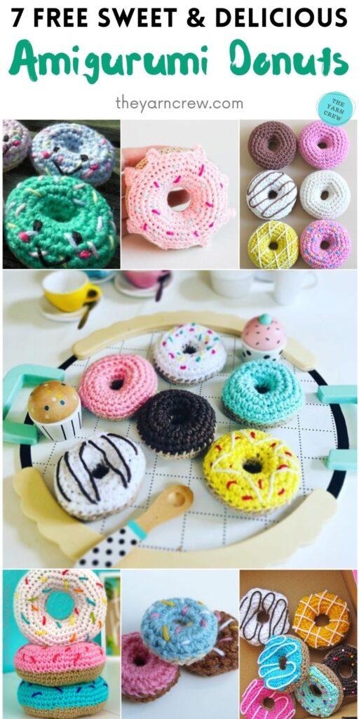 7 Free Sweet & Delicious Amigurumi Donuts PIN 2