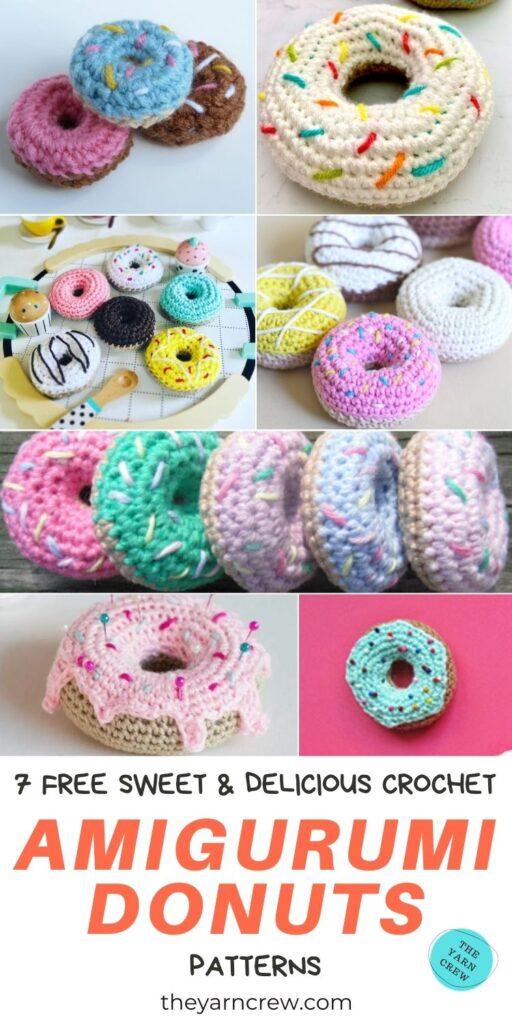 7 Free Sweet & Delicious Crochet Amigurumi Donut Patterns PIN 3