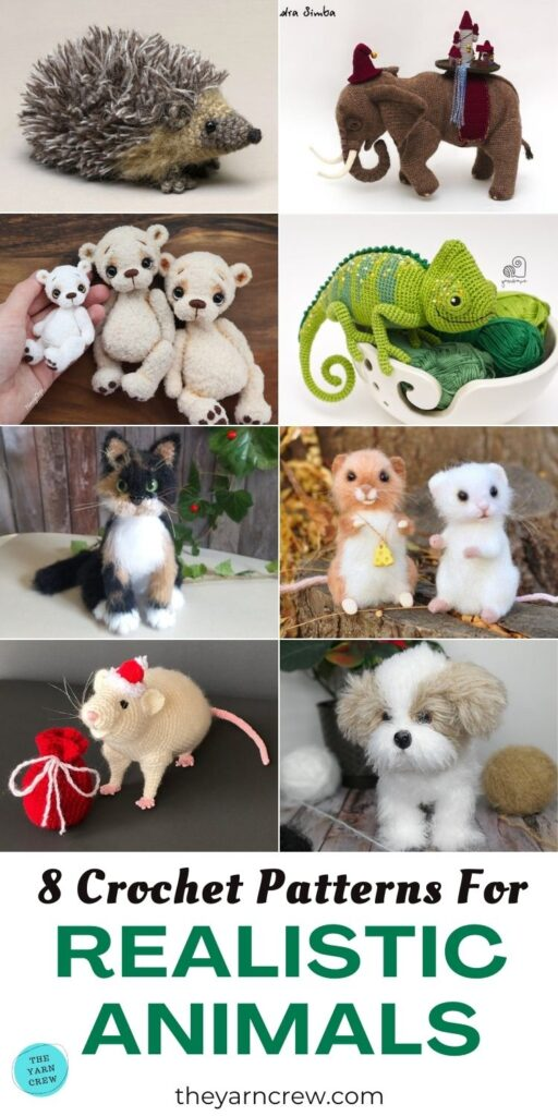 8 Crochet Patterns For Realistic Animals PIN 3