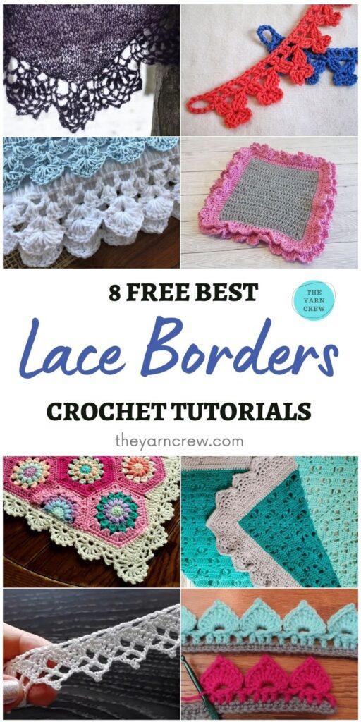 8 Free Best Lace Border Crochet Tutorials PIN 1
