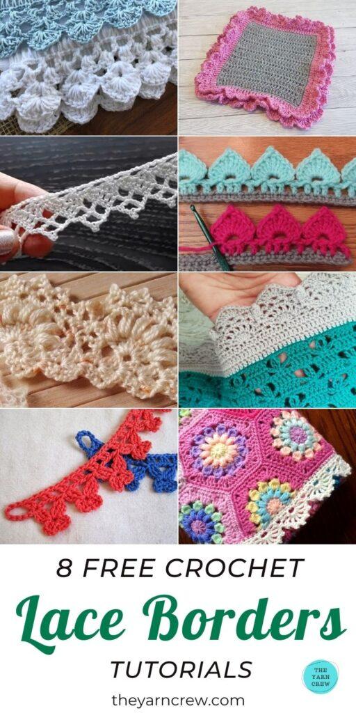 8 Free Crochet Lace Border Tutorials PIN 3