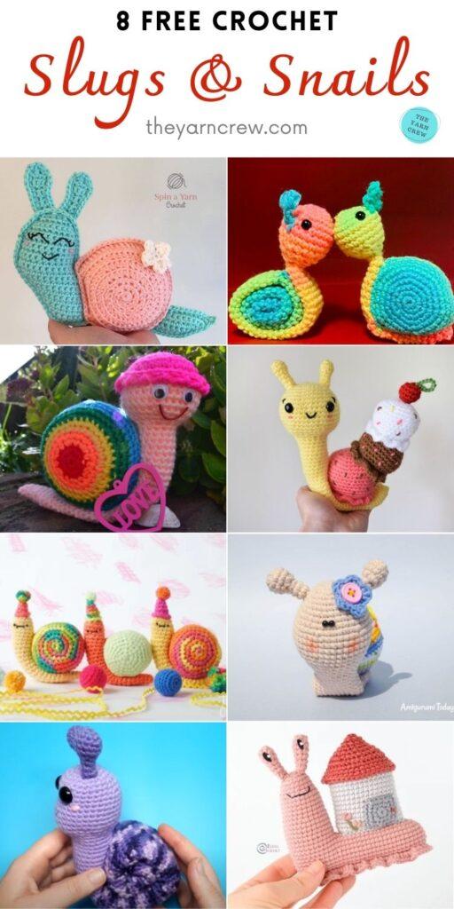 8 Free Crochet Slugs & Snails PIN 2