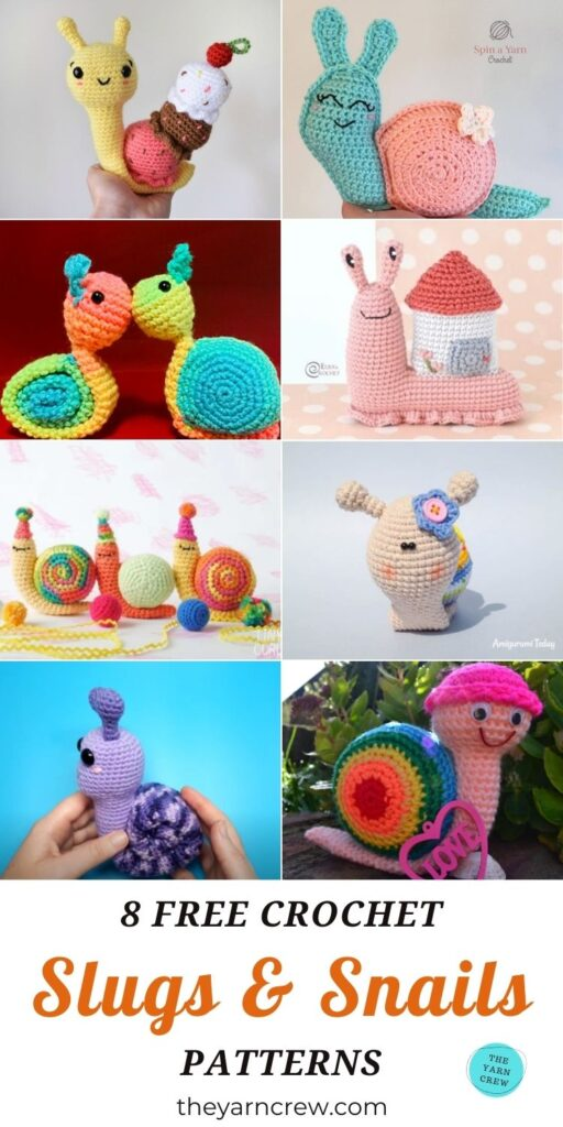 8 Free Crochet Slugs & Snails Patterns PIN 3