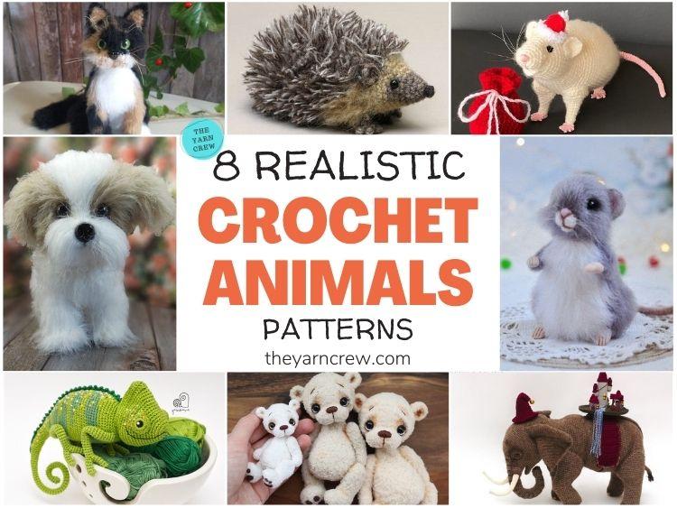 8 Realistic Crochet Animal Patterns FB POSTER