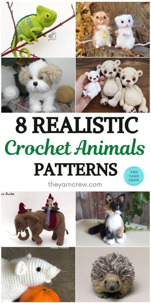 8 Realistic Crochet Animal Patterns PIN 1