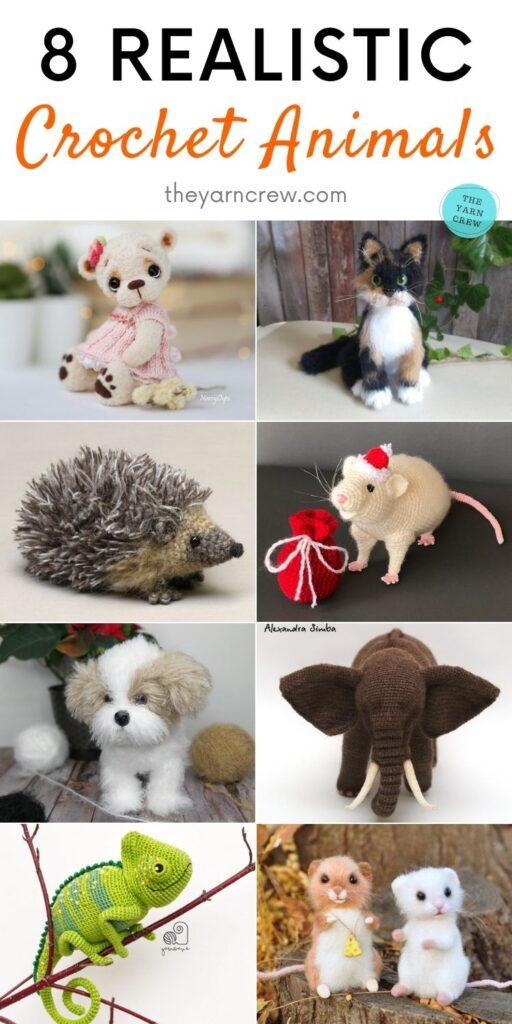 8 Realistic Crochet Animals PIN 2