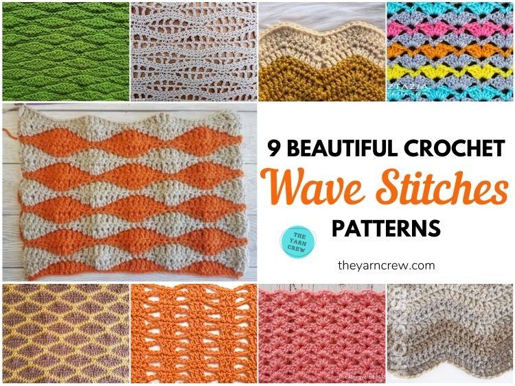 9 Beautiful Crochet Wave Stitch Patterns FB POSTER