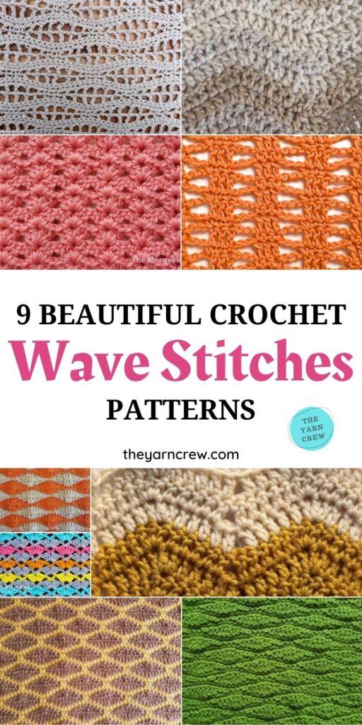 9 Beautiful Crochet Wave Stitch Patterns PIN 1