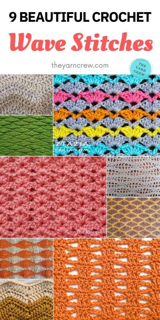 9 Beautiful Crochet Wave Stitches PIN 2
