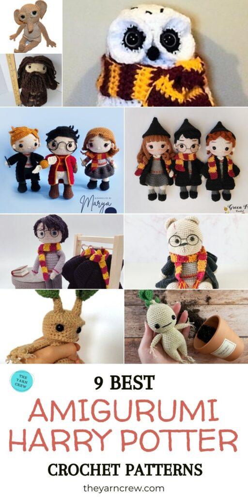 9 Best Amigurumi Harry Potter Crochet Patterns PIN 3