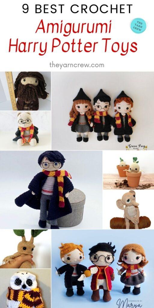 9 Best Crochet Amigurumi Harry Potter Toys PIN 2