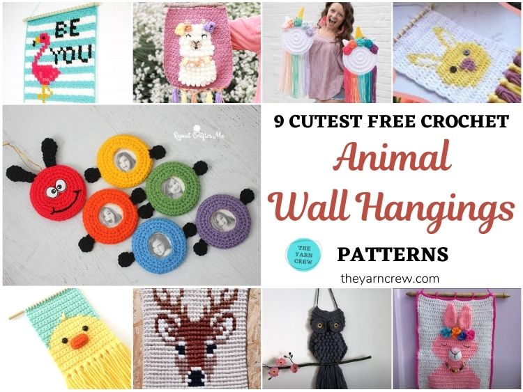 9 Cutest Free Crochet Animal Wall Hangings For The Nursery FB POSTER