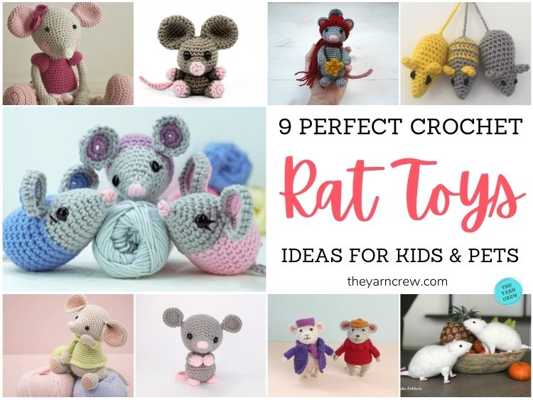 9 Perfect Crochet Rat Toy Ideas For Kids & Pets FB POSTER