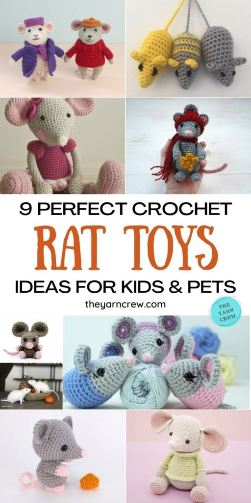 9 Perfect Crochet Rat Toy Ideas For Kids & Pets PIN 1