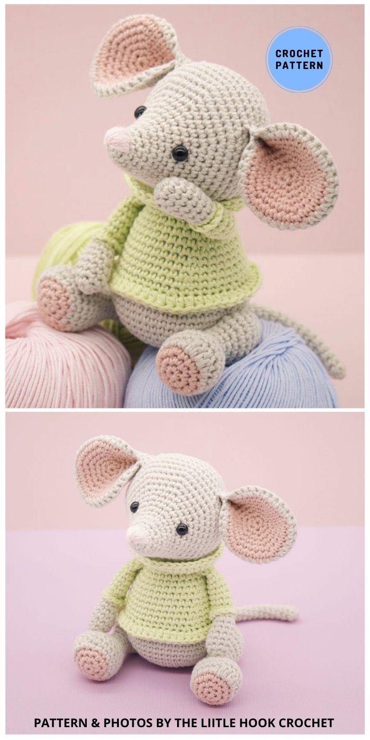 Albert The Mouse - 9 Perfect Crochet Rat Toy Ideas For Kids & Pets