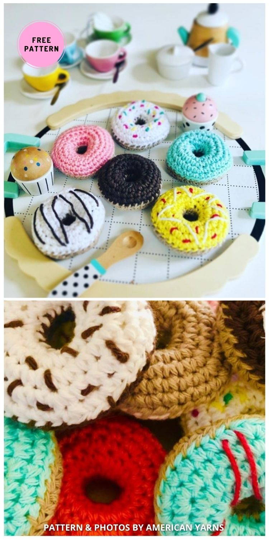 American Yarns Crochet Donuts - 7 Free Sweet & Delicious Amigurumi Donut Crochet Patterns