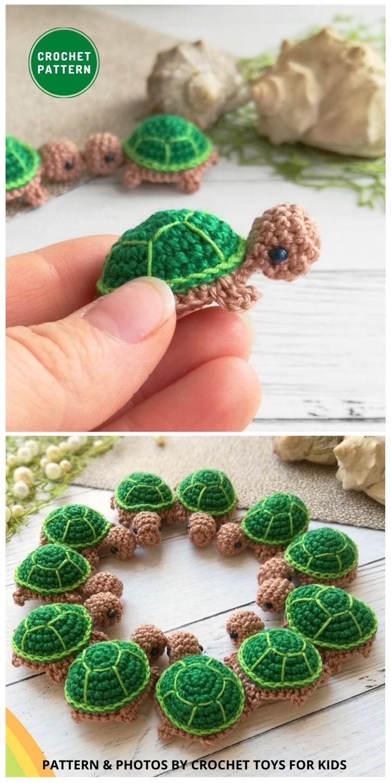 Amigurumi Baby Turtle - 12 Fun & Awesome Amigurumi Turtle Crochet Patterns
