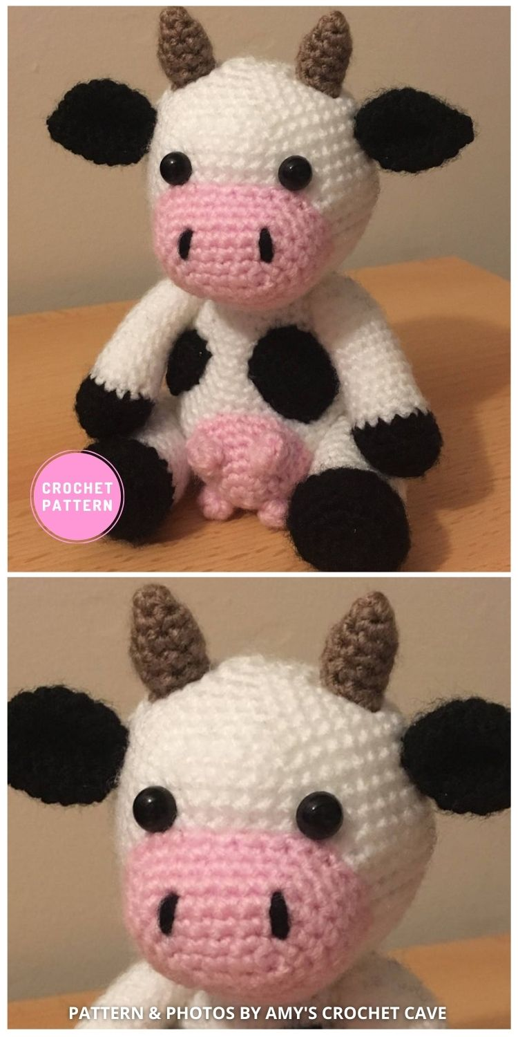 Amigurumi Cow - 6 Adorable Strawberry Cow Toy Crochet Ideas For Your Child