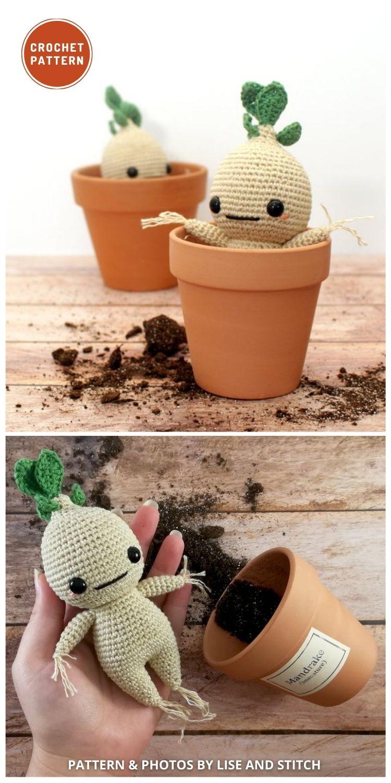 Amigurumi Mandrake - 9 Best Crochet Amigurumi Harry Potter Toys For Your Kids (1)