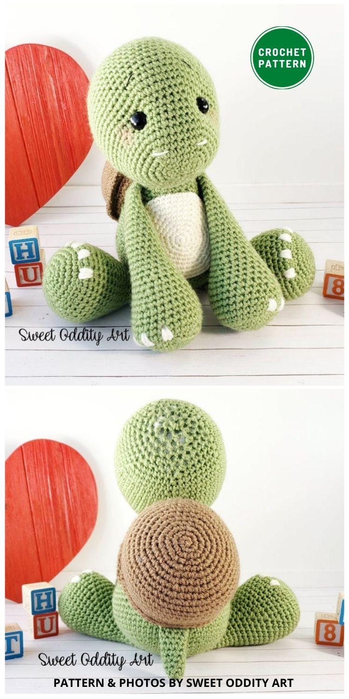 Amigurumi Turtle - 12 Fun & Awesome Amigurumi Turtle Crochet Patterns