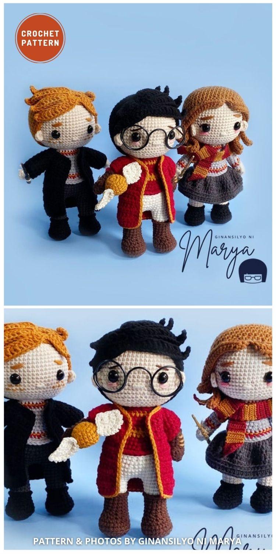 Amigurumi Wizard Boy and Friends - 9 Best Crochet Amigurumi Harry Potter Toys For Your Kids
