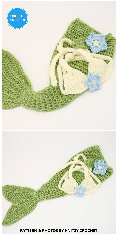 Baby Mermaid Tail - 12 Crochet Mermaid Tail Blanket Patterns For Kids & Adults