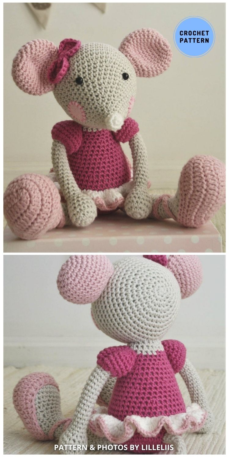 Ballerina Mouse - 9 Perfect Crochet Rat Toy Ideas For Kids & Pets